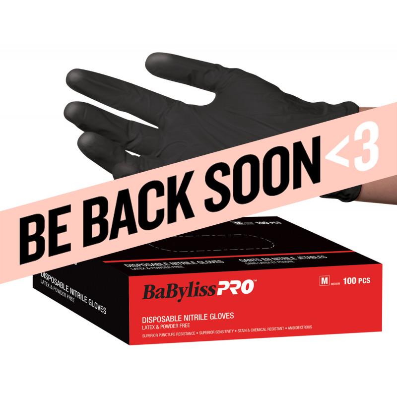 babylisspro disposable nitrile gloves – large # besnitlgc