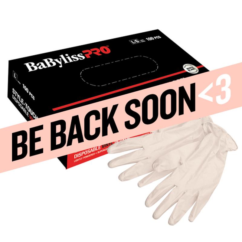 babylisspro disposable vinyl gloves (medium) # bestouchmdlxc