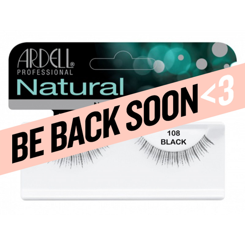 ardell natural lashes black #108