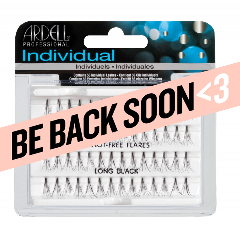 ardell individual lashes long black knot free