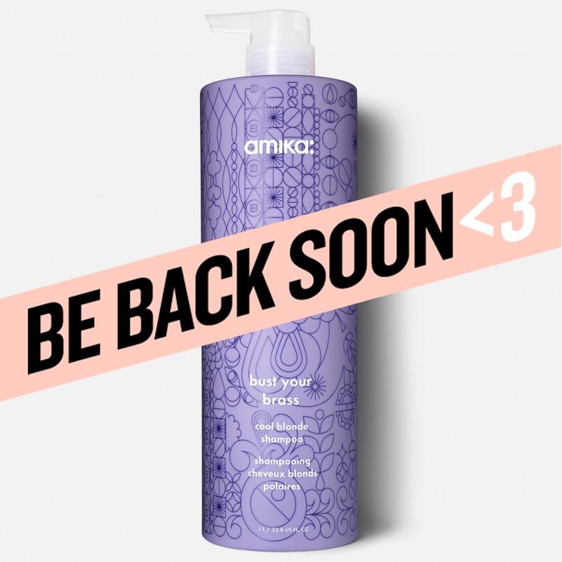 amika: bust your brass cool blonde shampoo 1000ml/33.8oz