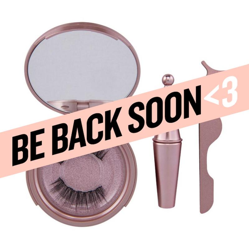 aria flash lash drama queen magnetic eyeliner & eyelashes with applicator tweezer
