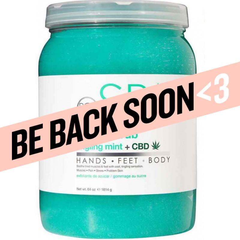 bcl spa sugar scrub - tingling mint & cbd  64 oz