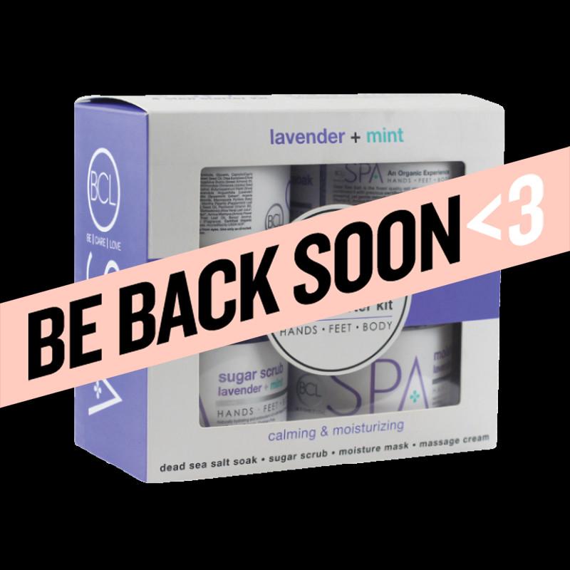 bcl spa lavender + mint 4 step starter kit 16 oz