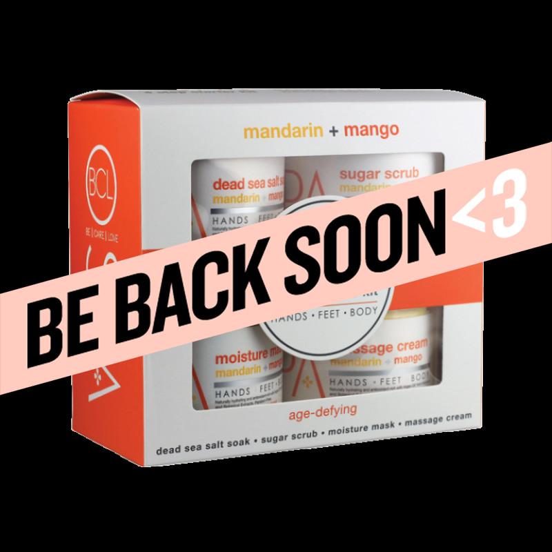 bcl spa mandarin + mango 4 step starter kit 16 oz