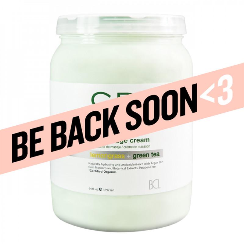bcl spa lemongrass + green tea massage cream 64oz