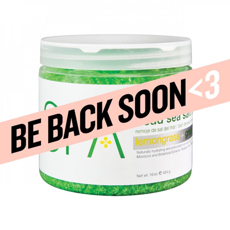 bcl spa dead sea salt soak lemongrass + green tea 16oz