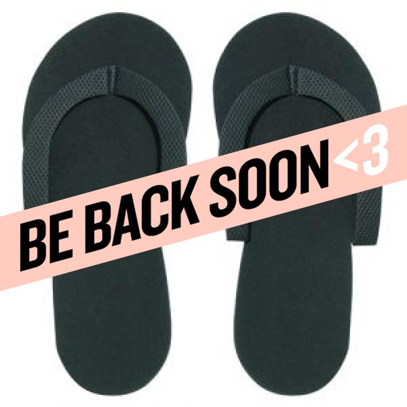 black pedicure slippers 1..
