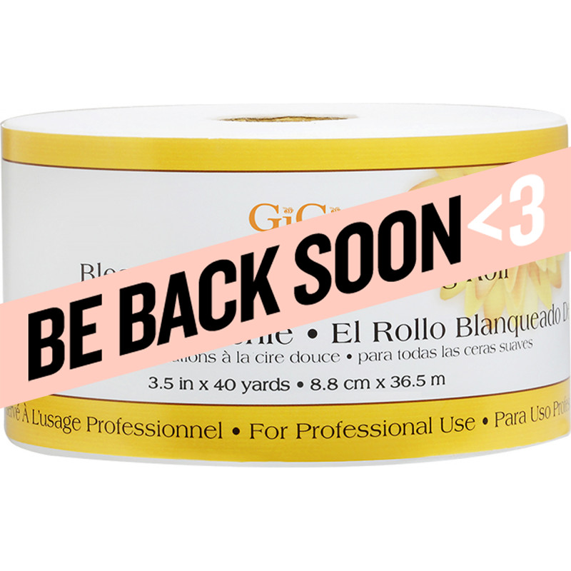 gigi bleached muslin epilating roll 3.25