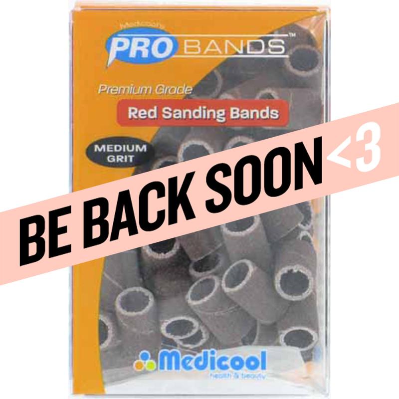 medicool pro bits® red sanding bands - medium grit (100 count)