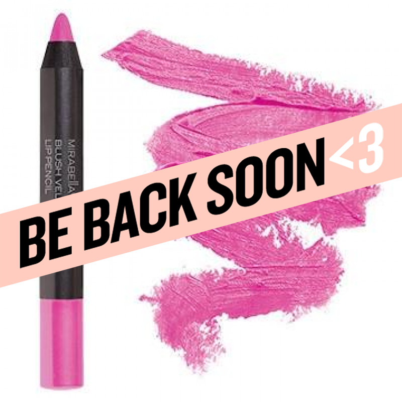 mirabella blush velvet lip pencil
