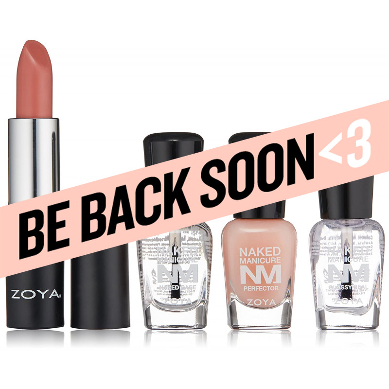 zoya naked manicure nail perfecting trio with lipstick