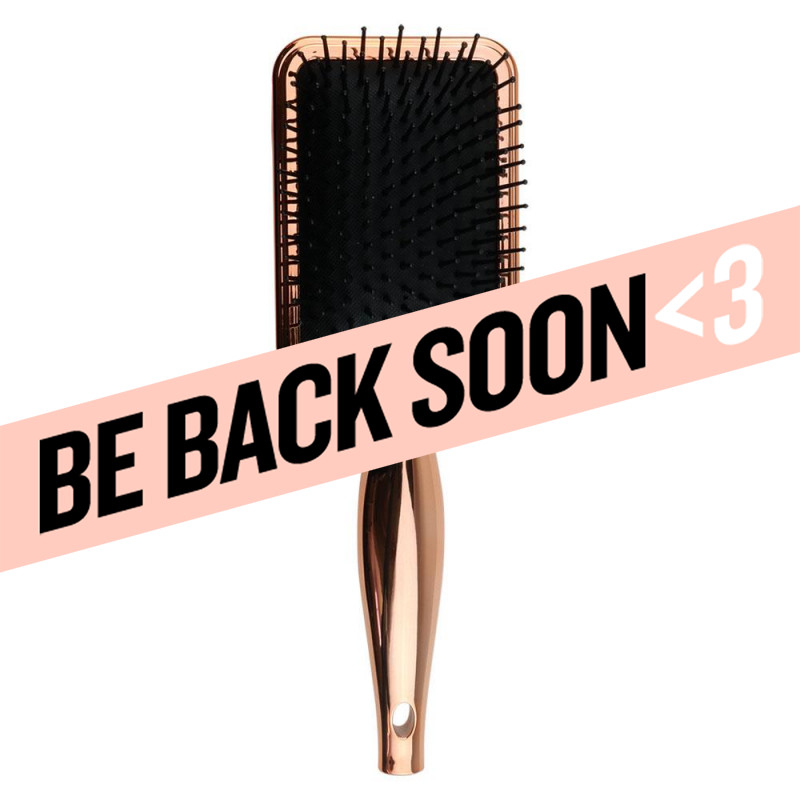 aria beauty luxe chrome detangling paddle brush