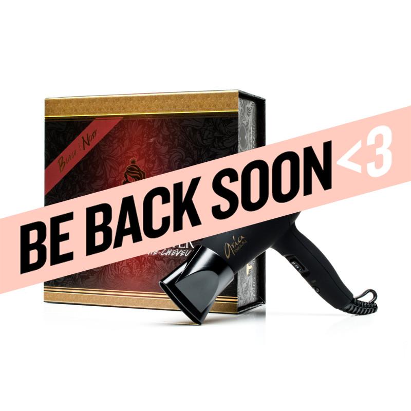 aria beauty black mini blow dryer & hair diffuser
