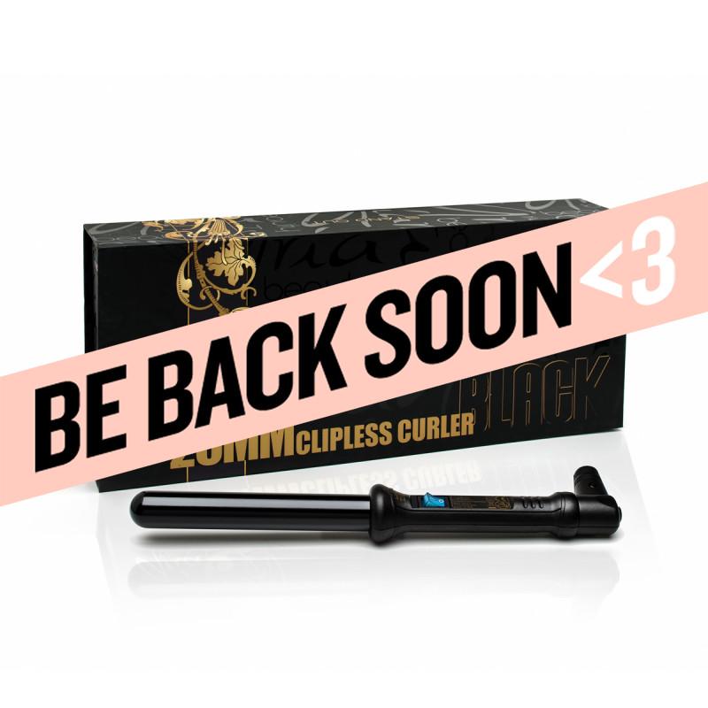 aria beauty black tourmaline clipless curling wand / curling iron 1
