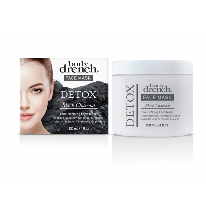 body drench black charcoal pore refining face mask 4oz