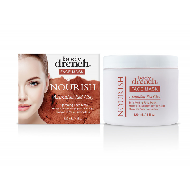 body drench australian red clay brightening face mask 4oz