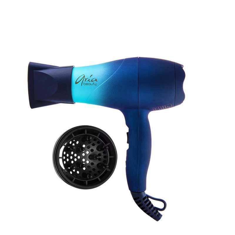 aria beauty mermaid mini blow dryer & hair diffuser