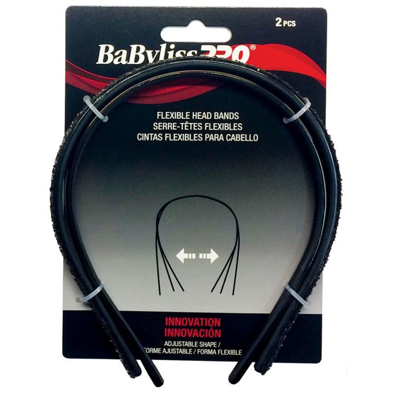 babylisspro flexible head bands brown (2 pcs) # beshahb2ucc