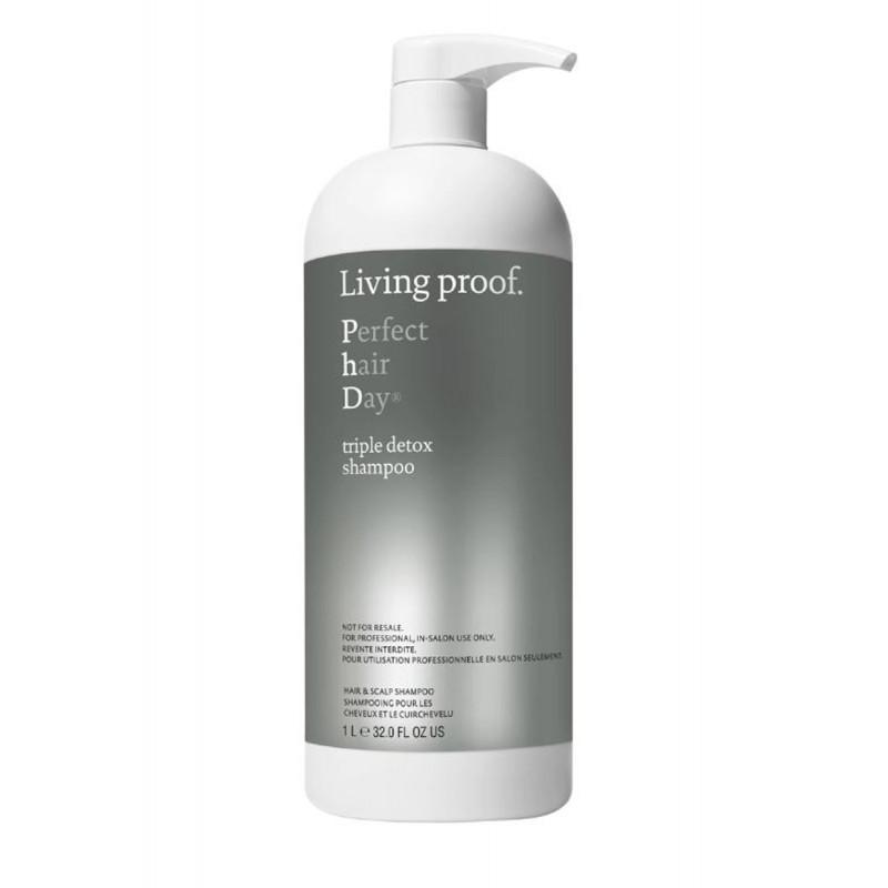 living proof perfect hair day triple detox shampoo litre