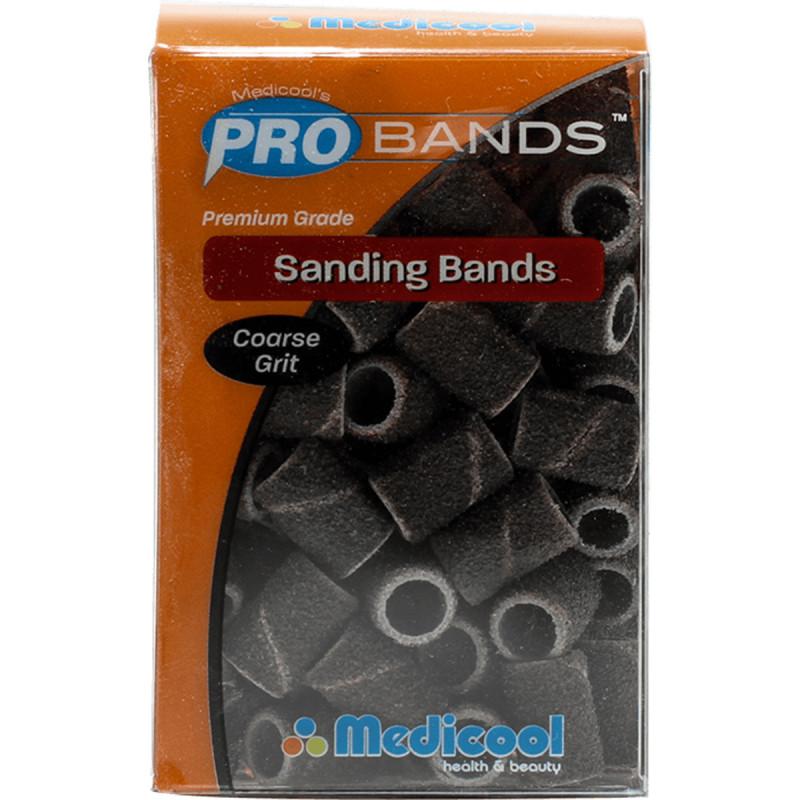 medicool pro bits® red sanding bands - coarse grit (100 count)