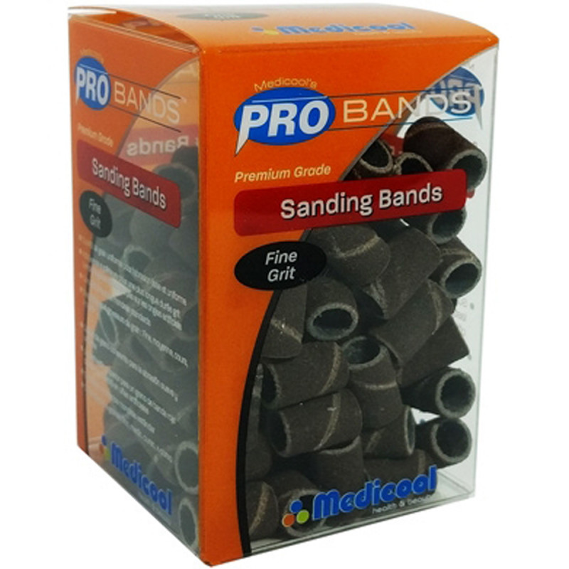 medicool pro bits® red sanding bands - fine grit (100 count)
