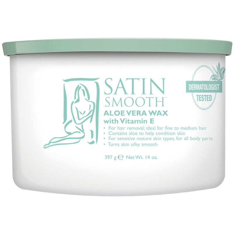 satin smooth aloe vera cream wax 14oz # ssw14avg