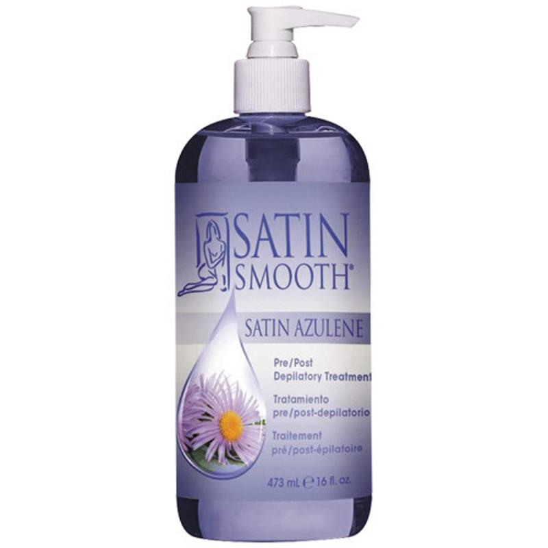 satin smooth azulene pre/post depilatory treatment 16oz # sswlaz16g