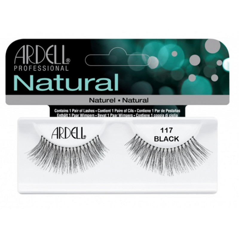 ardell natural lashes black #117
