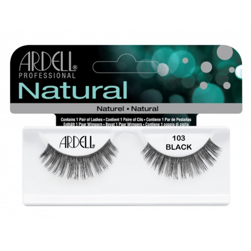 ardell natural lashes black #103