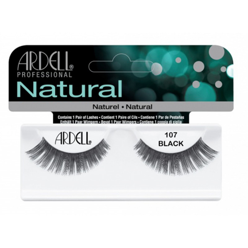 ardell natural lashes black #107
