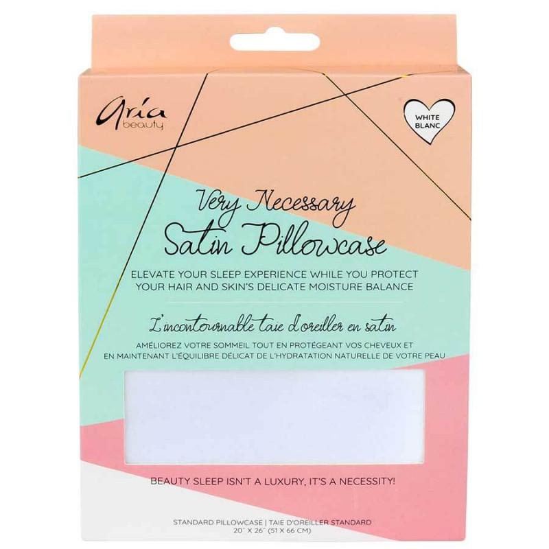 aria satin pillowcase 6 piece display (white)