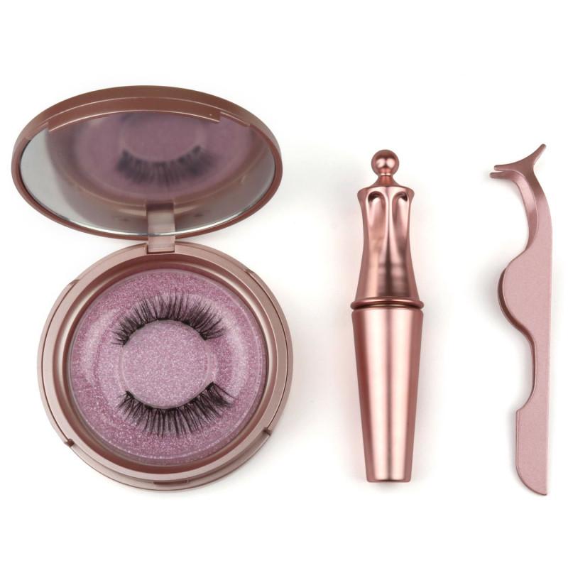 aria flash lash magnetic eyeliner & eyelashes with applicator tweezer display 6 piece