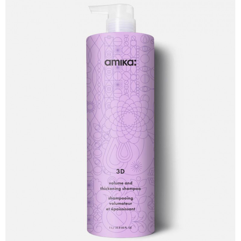amika: 3d volume & thickening shampoo 1000ml/33.8oz