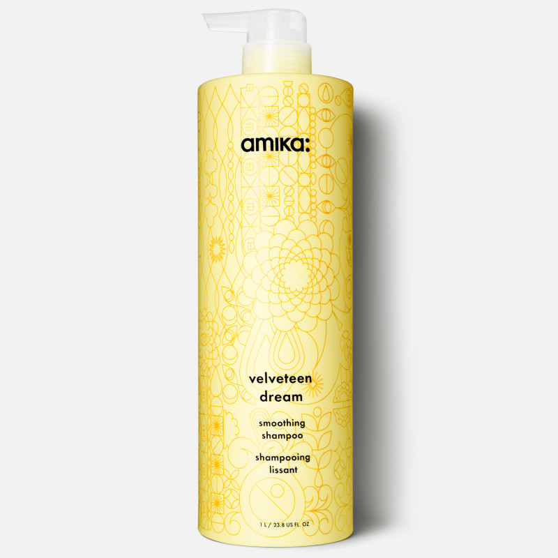 amika: velveteen dream smoothing shampoo 1000ml/33.8oz