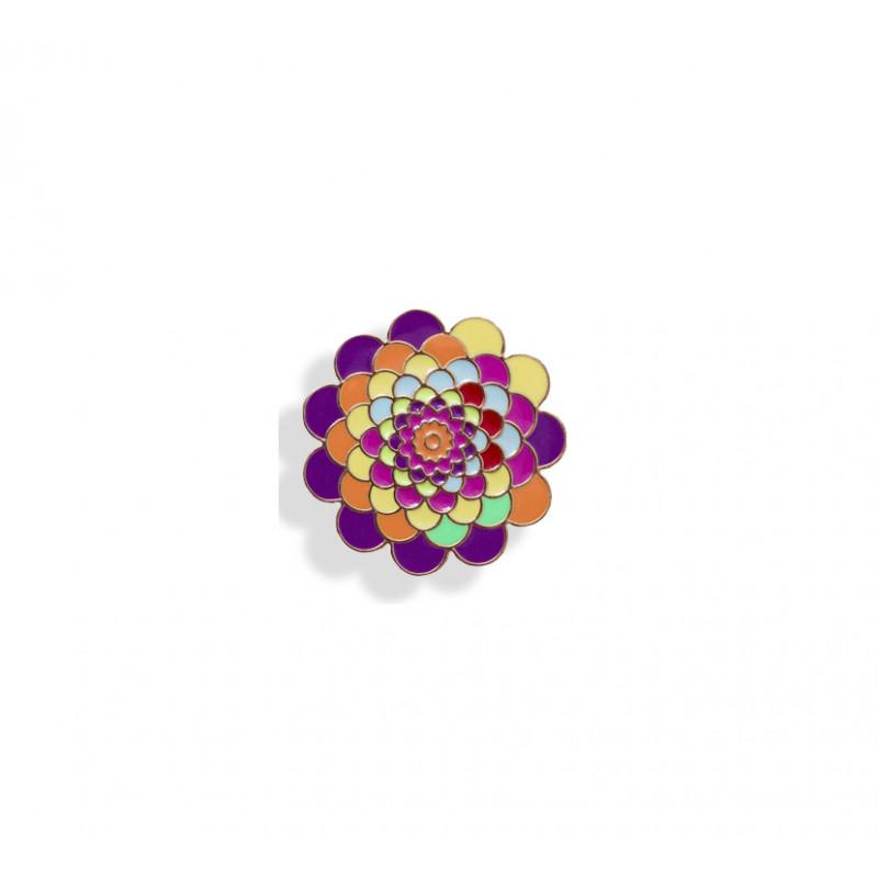 amika: lapel pin - flower..