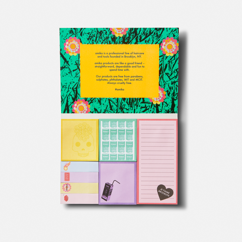 amika: forget-me-nots sticky notes