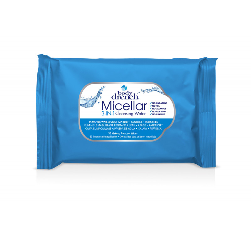 body drench micellar 3-in-1 cleansing wipes 30pc