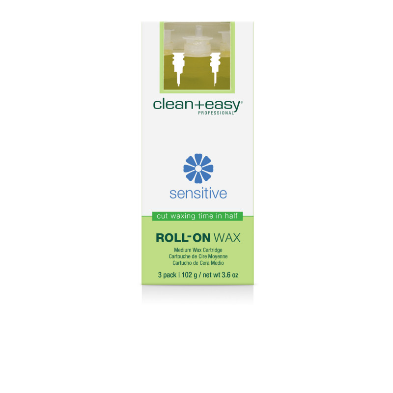 clean & easy medium sensitive wax refill - 3 pack