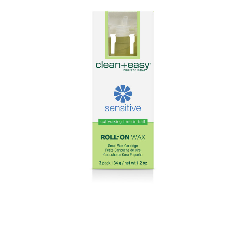clean & easy small sensitive wax refill - 3 pack