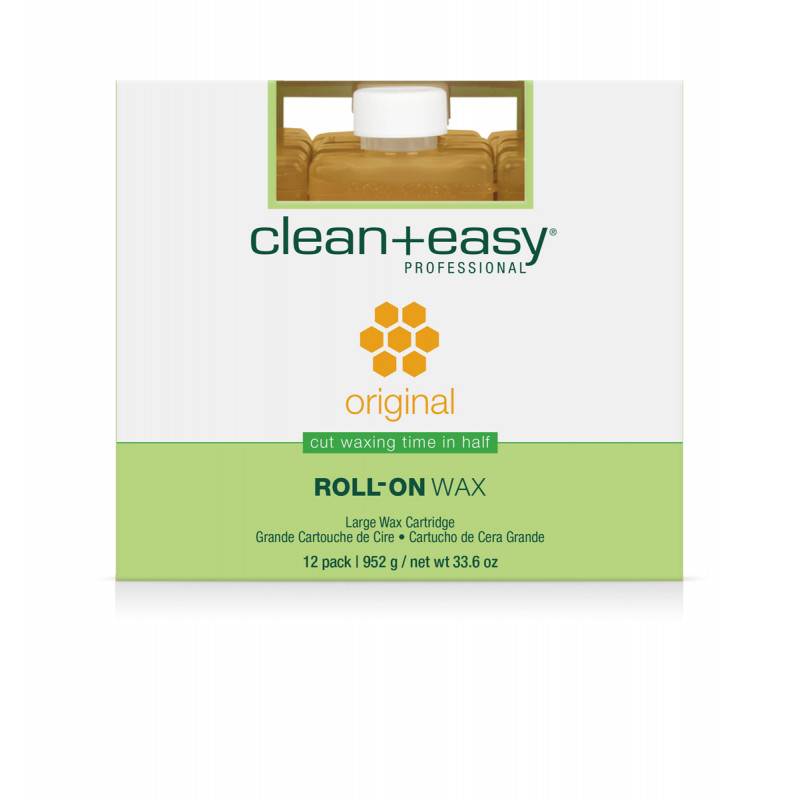 clean & easy large original wax refill - 12 pack