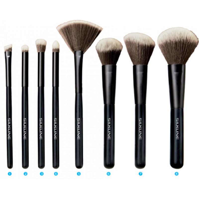 silkline 8-piece make-up brush set # slmubr8setc