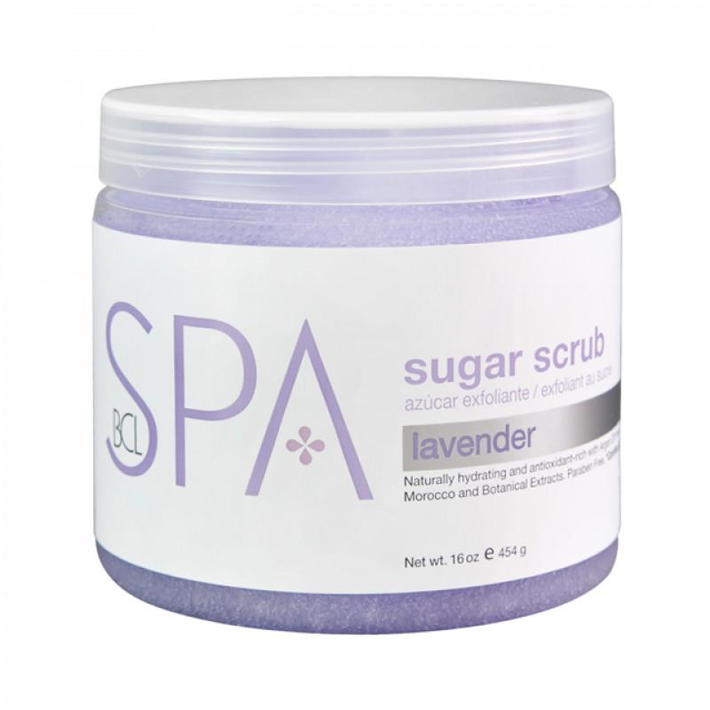 bcl spa sugar scrub lavender + mint 16oz