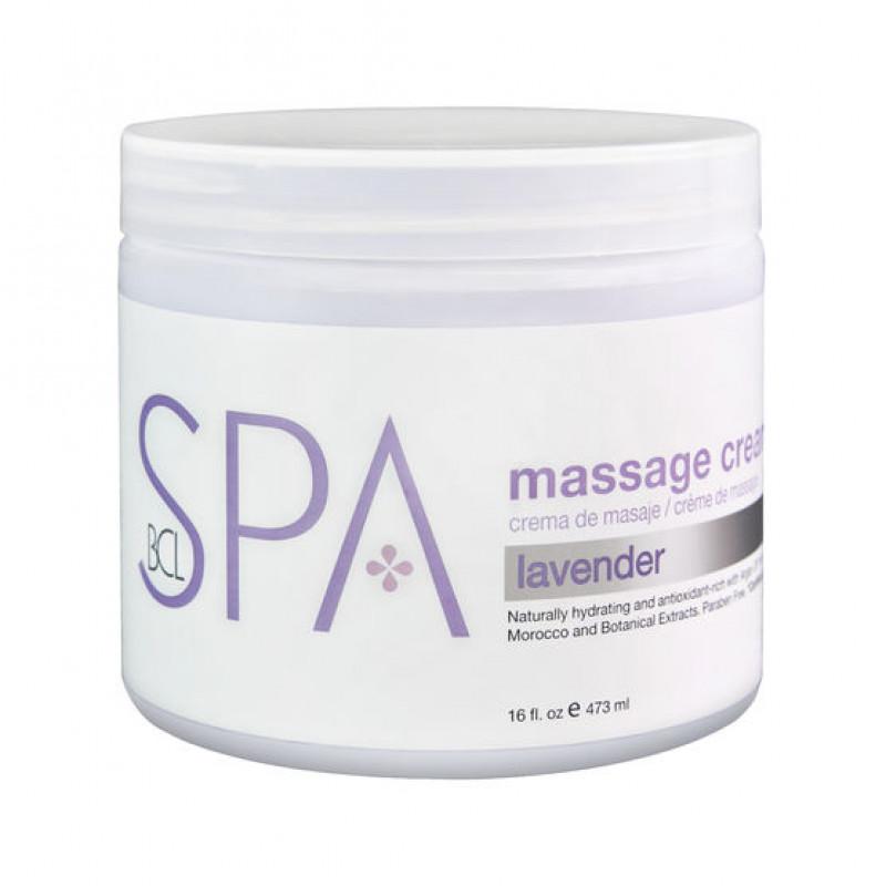 bcl spa massage cream lavender + mint 16oz