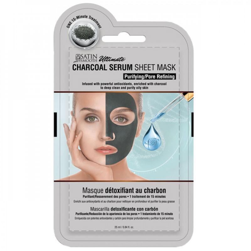 satin smooth charcoal serum mask 1pc # sskdmk