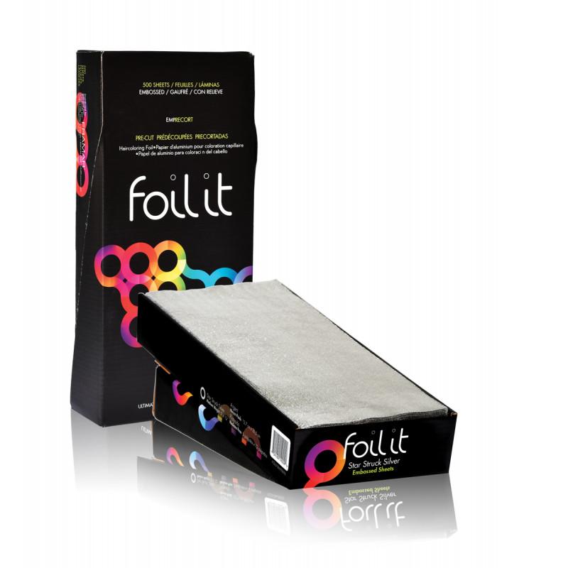 framar foil-it star struck silver - medium 5x12 500 sheets (pre-cut embossed)