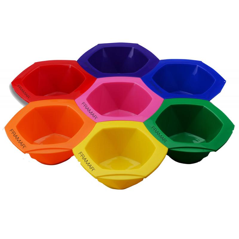 framar connect + color tint bowls rainbow 7pc