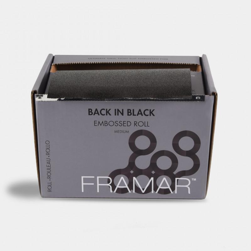 framar back in black medium embossed foil roll 330ft