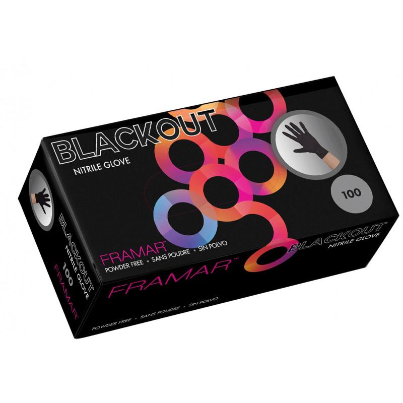 framar blackout nitrile gloves small