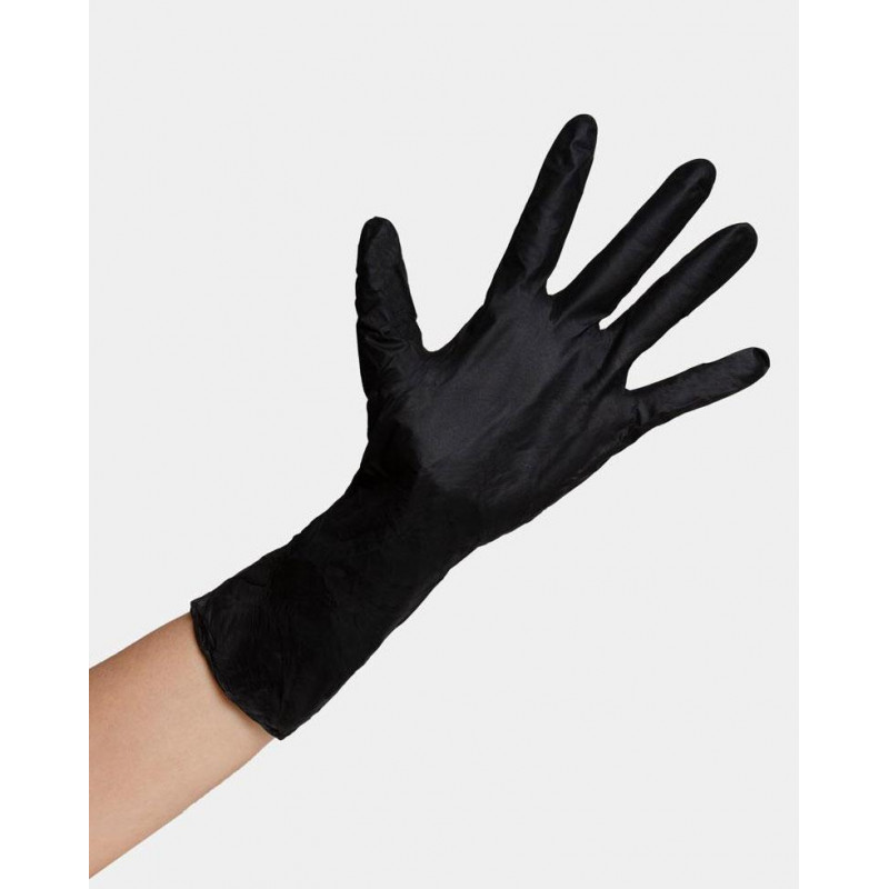 framar reusable black latex gloves small (box of 10)